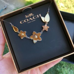 NWT! COACH WILDFLOWER BOUQUET NECKLACE.